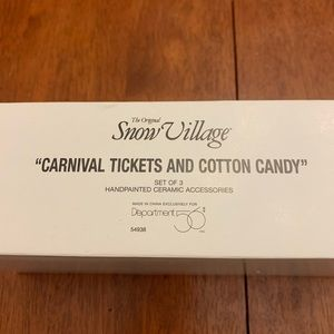 Carnival Tickets and Cotton Candy